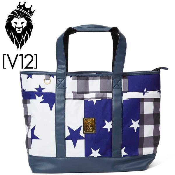 V12 ゴルフ ヴィ・トゥエルヴ ビッグ トートバッグ V121721-BG02 クレイジースター ブルー 新品 ゴルフ用バッグ 17FW