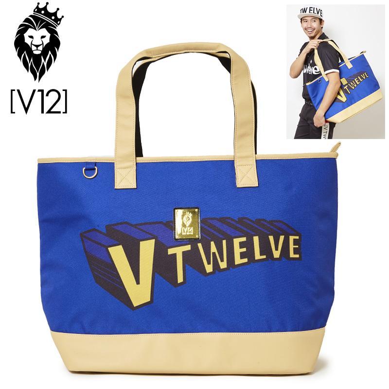 V12 ゴルフ ヴィ・トゥエルヴ 2019 ビッグ トートバッグ SUPER V12 V121910-BG01 78/ネイビー 19SS ゴルフ用バッグ メンズ レディース