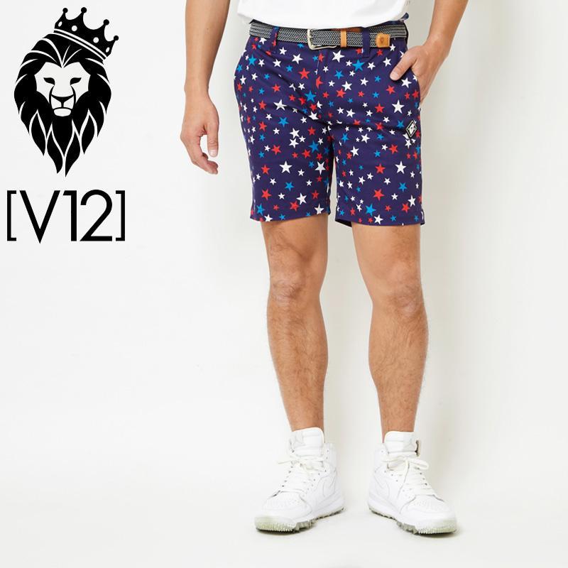 V12 ゴルフ ヴィ・トゥエルヴ メンズ MULTI STAR ショートパンツ V121810-PN06 78/ネイビー 春夏 18SS ゴルフ メンズウェア