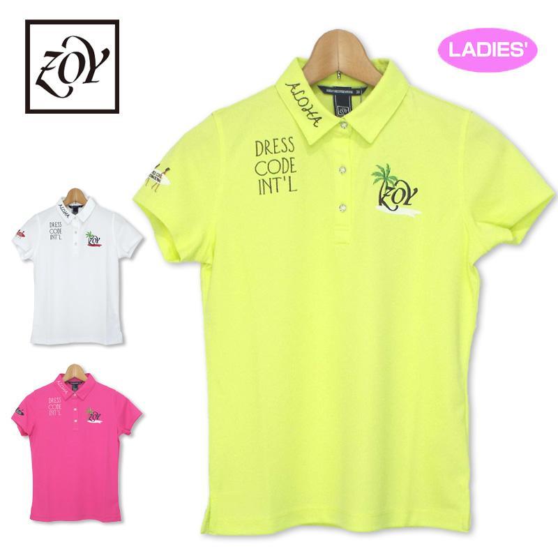 メール便送料無料 ZOY ゾーイ 2019 レディース 半袖 ポロシャツ 071692022 19SS 女性 ゴルフゴルフウェア レディースウェア トップス 半そで 無地