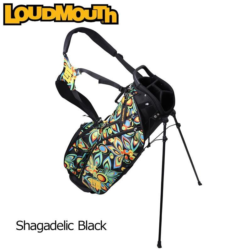 日本規格 ラウドマウス 2019 8.5型 軽量 スタンドバッグ Shagadelic 黒 シャガデリック ブラック LM-CB0010 769980(020) 19SS ゴルフ Loudmouth