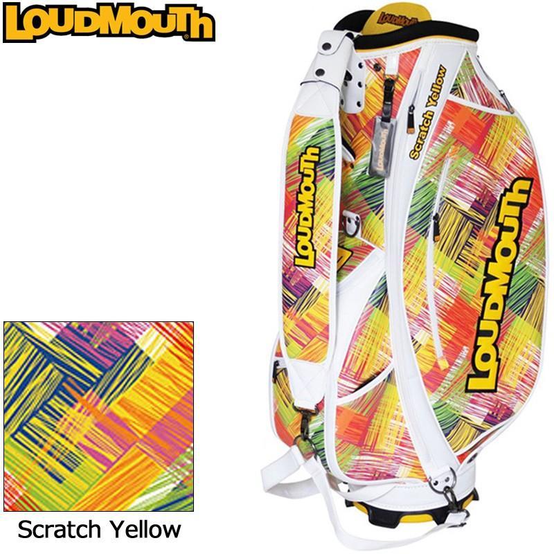 日本規格 ラウドマウス 3点式 9型 キャディバッグ (Scratch Yellow/スクラッチイエロー) LM-CB0006/778995(156) 18FW Loudmouth Bag ゴルフ用バッグ