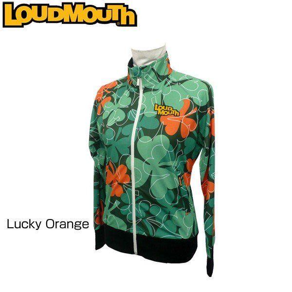 ラウドマウス Loudmouth ゴルフ レディースウエア ジャケット (064)Lucky オレンジ ラッキーオレンジ 767451 春 夏 新品 17SS 日本規格 ブルゾン グリーン 緑