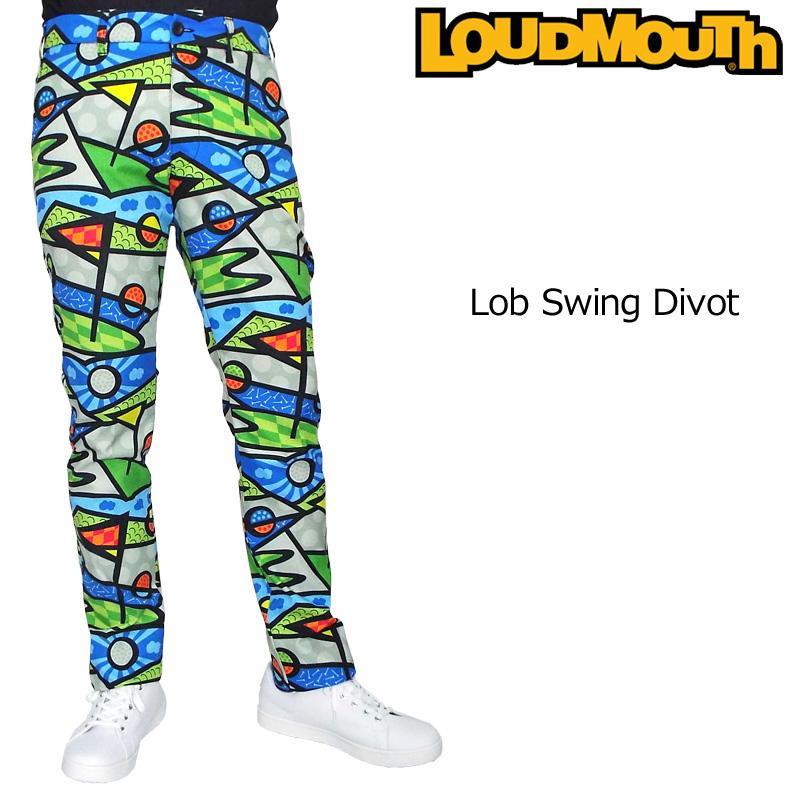 日本規格 ラウドマウス 2019 メンズ ロングパンツ Lob Swing Divot ロブ スイング ディボット 769316(191) 19SS Loudmouth ゴルフウェア ボトムス 派手 JUN2