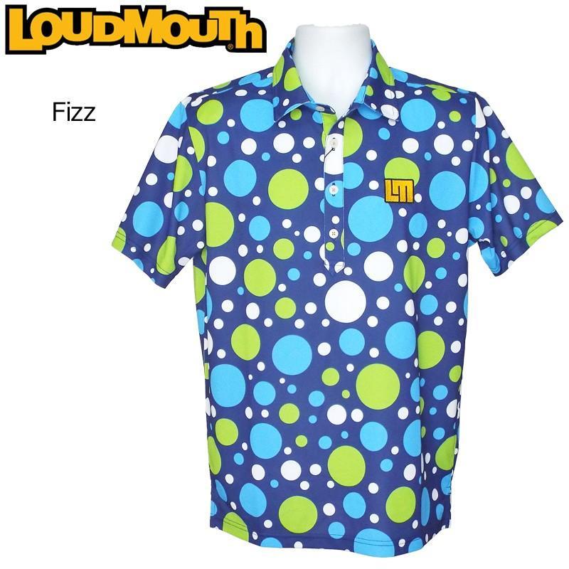 メール便送料無料 日本規格 ラウドマウス 2019 メンズ 半袖ポロシャツ Fizz フィズ 769605(180) 春夏 19SS Loudmouth トップス 派手 派手な