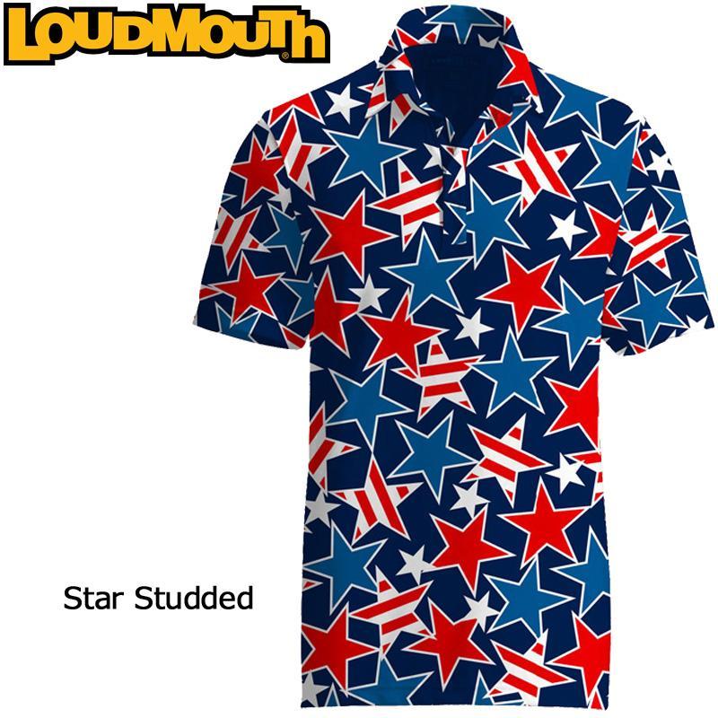 無料発送 メール便発送OK Star ラウドマウス Loudmouth ゴルフ Fancy メンズウエア 半袖 ポロシャツ Shirt ファンシーシャツ スタースタッズ 新品 Star Studded Fancy Shirt SS, アシストパス:8525573c --- airmodconsu.dominiotemporario.com