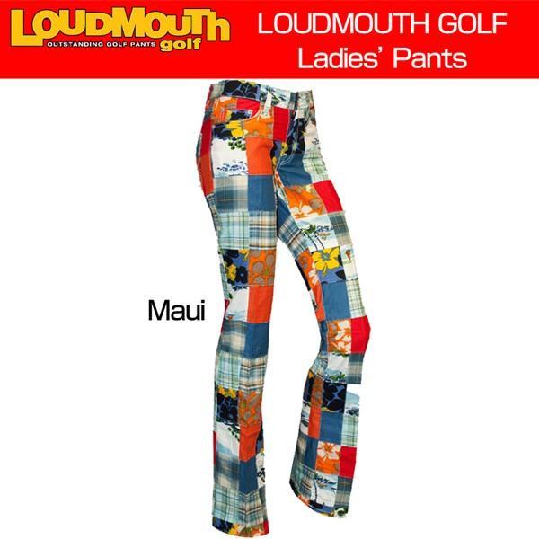 ラウドマウス Loudmouth ゴルフ レディースウエア ロングパンツ ジーンズカット Maui マウイ 新品