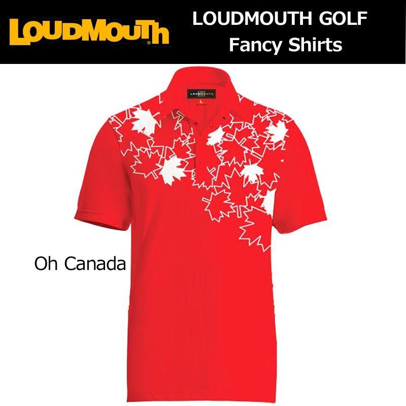メール便送料無料 ラウドマウス Loudmouth ゴルフ メンズウエア 半袖 ポロシャツ ファンシーシャツ オーカナダ 新品 Fancy Polo Shirt Oh Canada 派手 な