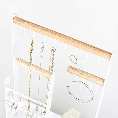 Calife 北欧インテリア ジュエリー収納アクセサリースタンド 6枚巾着袋贈り ツリー型ホルダー ネックレス・イヤリング・ブレスレット・腕時計・シュ three-pieces 05