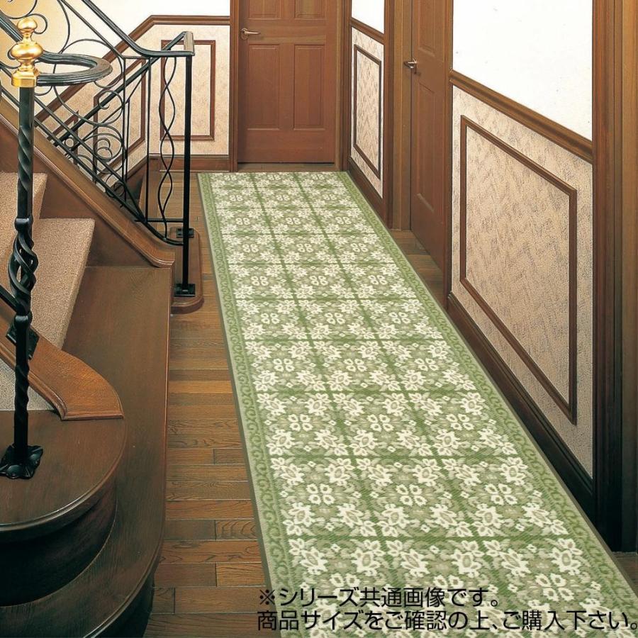 代引不可 三重織 い草廊下敷 約80×350cm グリーン TSN340511