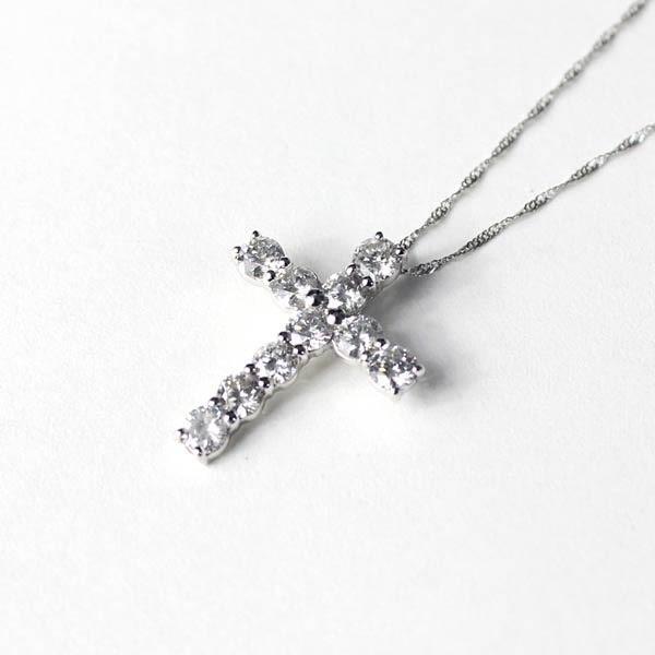 【超歓迎された】 /18金ホワイトゴールド ダイヤモンド 1ct ダイヤモンド 1ct クロスペンダント〔〕/, チクマシ:9f4ca1a9 --- airmodconsu.dominiotemporario.com