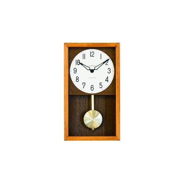 代引不可/CHAMBRE HINOKI PENDULM CLOCK〔CAFE 褐色〕/代引不可