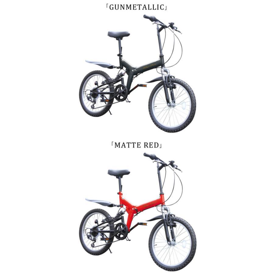 折りたたみ自転車 20インチ MTB マウンテンバイク AJ-01N 自転車/折畳み自転車/フルサスペンション/シマノ社製6段ギア|three-stone-ys|13