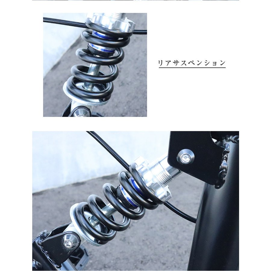 折りたたみ自転車 20インチ MTB マウンテンバイク AJ-01N 自転車/折畳み自転車/フルサスペンション/シマノ社製6段ギア|three-stone-ys|05