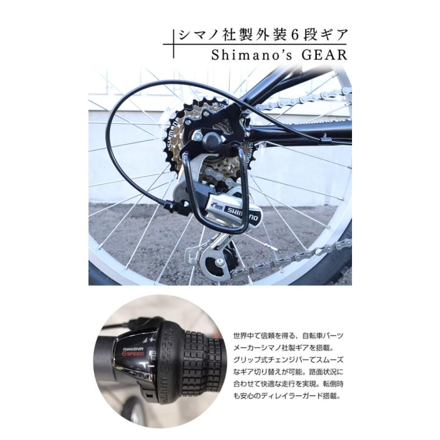 折りたたみ自転車 20インチ MTB マウンテンバイク AJ-01N 自転車/折畳み自転車/フルサスペンション/シマノ社製6段ギア|three-stone-ys|07
