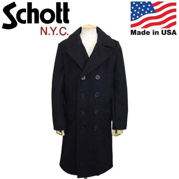 Schott (ショット) 7331 714US LONG MELTON PEA COAT ロングメルトンピーコート 87NAVY