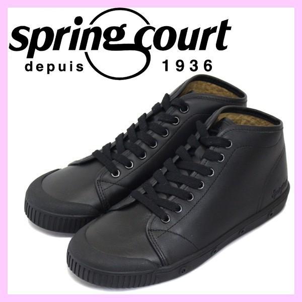 【お気にいる】 spring (ブラック) court (スプリングコート) B2S-V5 レディース SPC021 B2 Leather (B2レザー) レディース ハイカットスニーカー BLACK (ブラック) SPC021, ワールドサイクル:45204a8c --- theroofdoctorisin.com