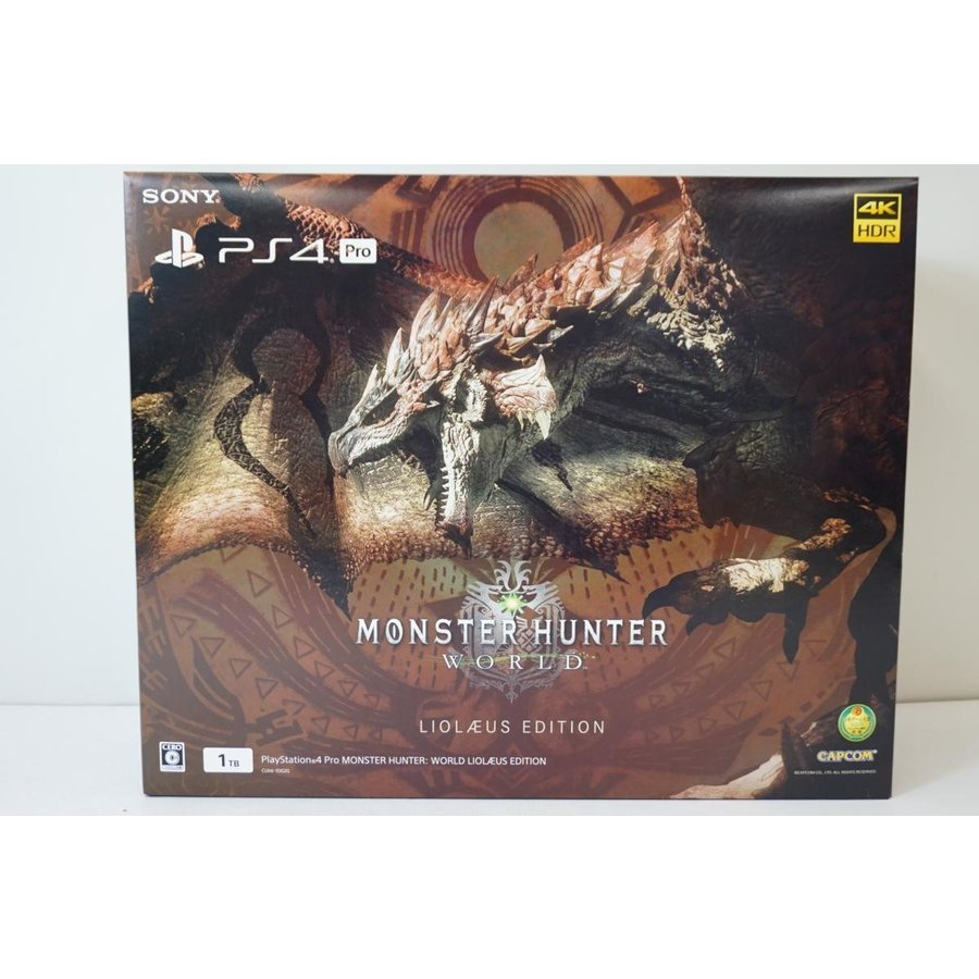 《ゲーム》【未使用品】未使用品!! PS4 PlayStation4 Pro MONSTER HUNTER: WORLD LIOLAEUS EDITION CUHJ-10020 ゲーム