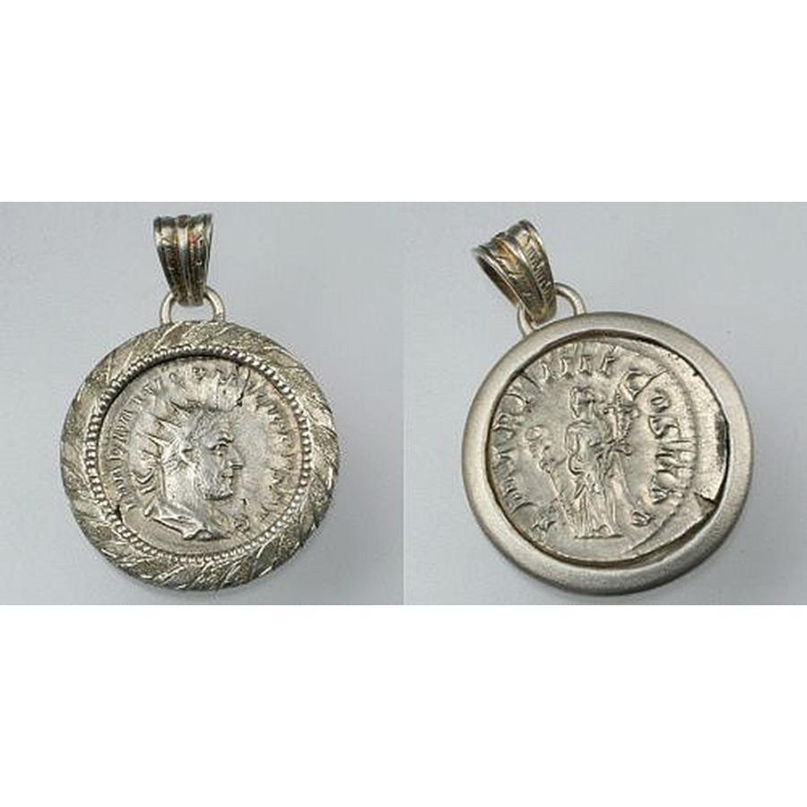 新作 ローマ帝国 フィリップス・アラブス帝 コインペンダント, 高島郡 752864a6