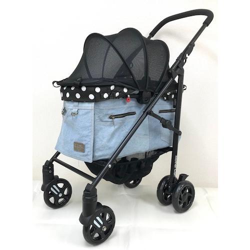 マザーカート Mother Cart ラプレ Lサイズ デニム 犬用 ペットカート ペットバギー