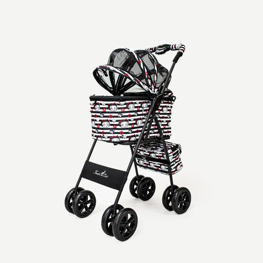 天使のカート Betty Boop Pudgy専用ドームカバー+専用フレームバッグ付 Sサイズ 犬用品 キャリーカート ペットカート ペットバギー