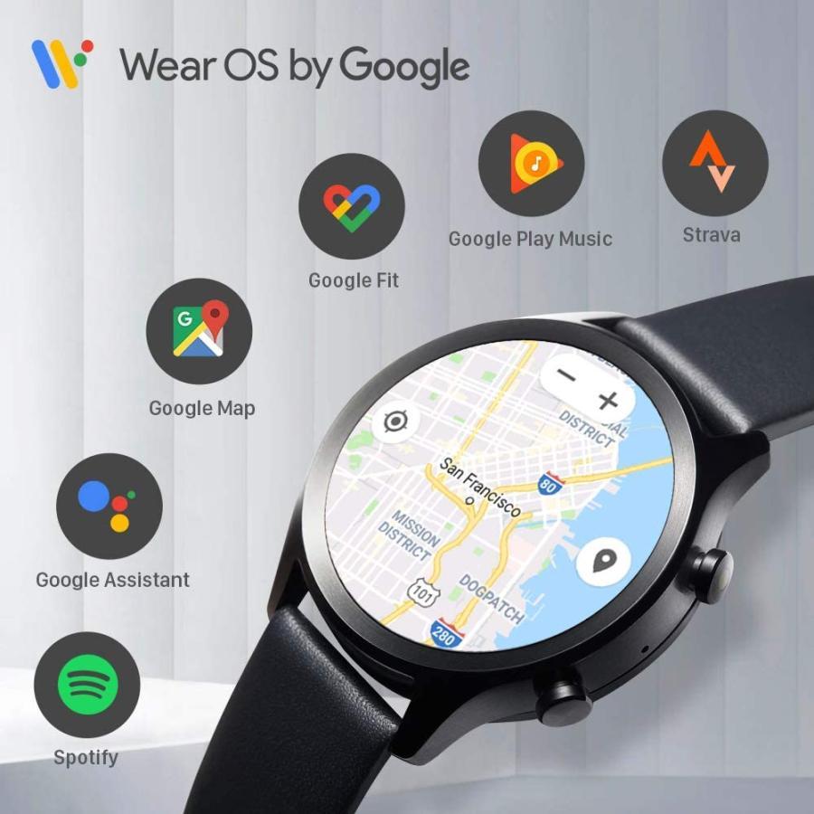 スマートウォッチ TicWatch C2+ ティックウォッチ Wear OS by Google GPS メンズ レディース 腕時計 1GB RAM IP68防水 電話 着信 LINE通知 心拍計 マイク|ticwatch|02
