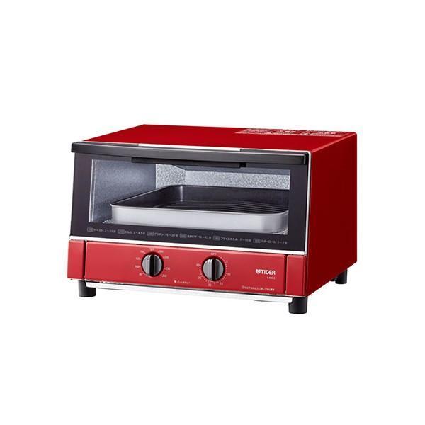 オーブントースター タイガー KAM-S130RG グロスレッド タイガー魔法瓶 1300W ワイド 2020新作 1人暮らし セットアップ トースター 調理