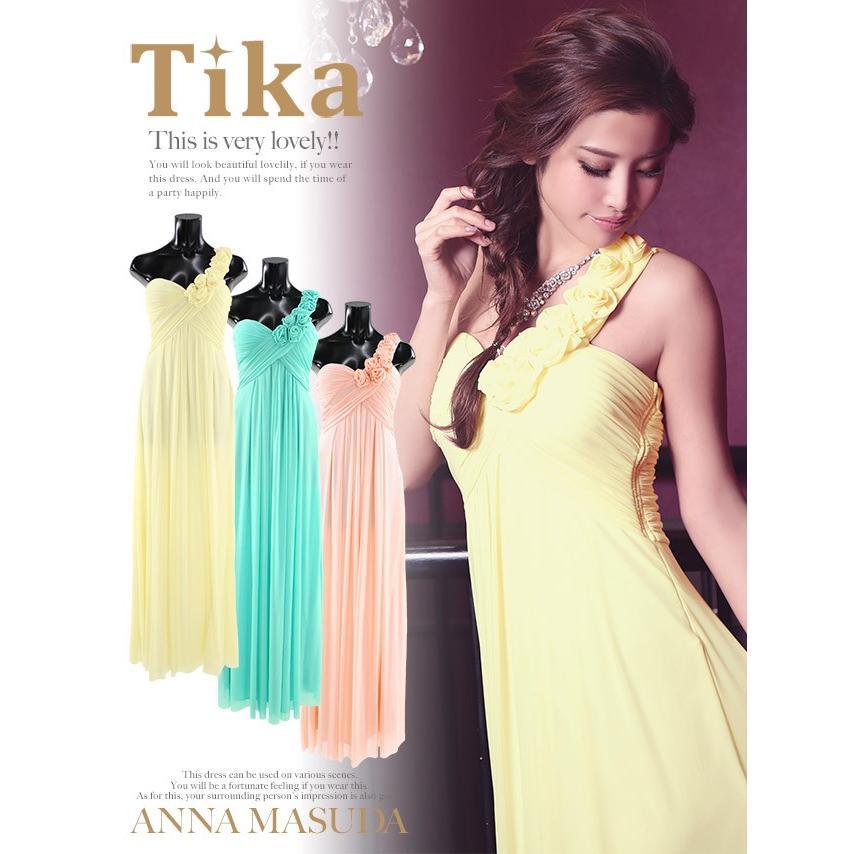 32745b1802b5d キャバ ドレス キャバドレス ロング Tika ティカ ワンショル フラワー ...