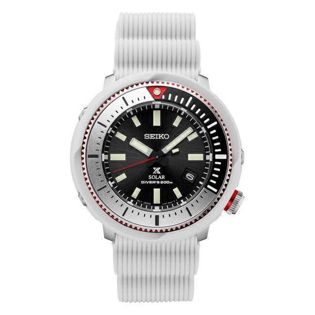 10年保証 日本未発売 SEIKO セイコー プロスペックス ソーラー ダイバー SNE545 腕時計 時計 ブランド メンズ 逆輸入 アナログ ブラック 黒 ホワイト 白 ツナ|timelovers|05