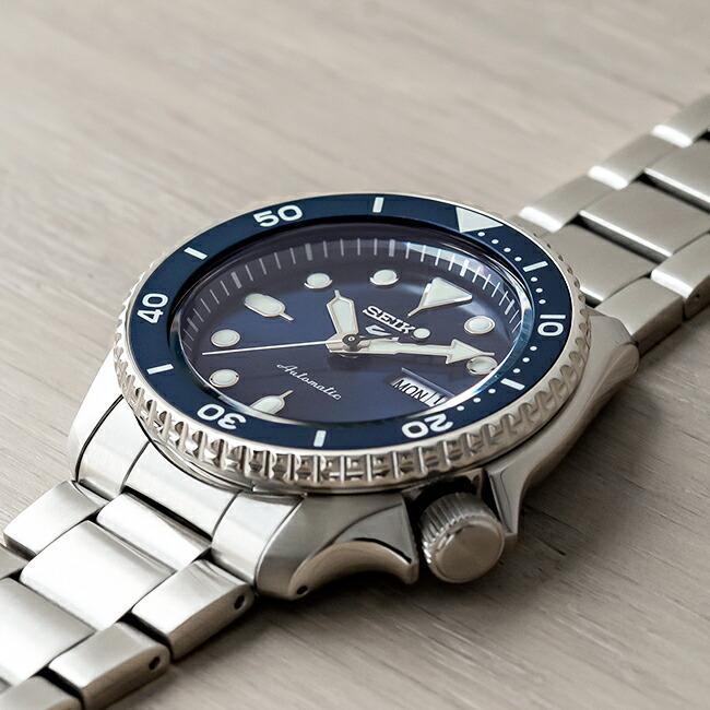 10年保証 SEIKO セイコー 5 スポーツ オートマチック SRPD51 腕時計 時計 ブランド メンズ 逆輸入 ダイバー風 アナログ ネイビー シルバー timelovers 02