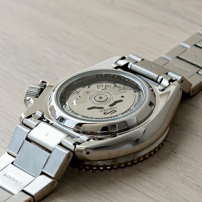 10年保証 SEIKO セイコー 5 スポーツ オートマチック SRPD51 腕時計 時計 ブランド メンズ 逆輸入 ダイバー風 アナログ ネイビー シルバー timelovers 03