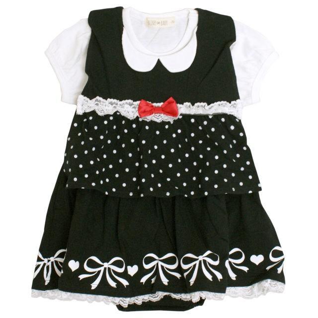 \最終999円SALE/ ロンパース 赤ちゃん ベビー 女の子 綿100% ベスト型スタイ付き フォーマル 半袖 カバーオール ギフト 出産祝 贈り物 ミニオール セール|timely