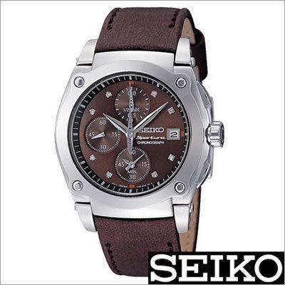 【オープニング 大放出セール】 セイコー/SEIKO/海外品/スポーチュラ/クロノグラフ/ダイヤモンド/レザーバンド/レディース腕時計/SND859P1, 今市市:b8782e64 --- airmodconsu.dominiotemporario.com