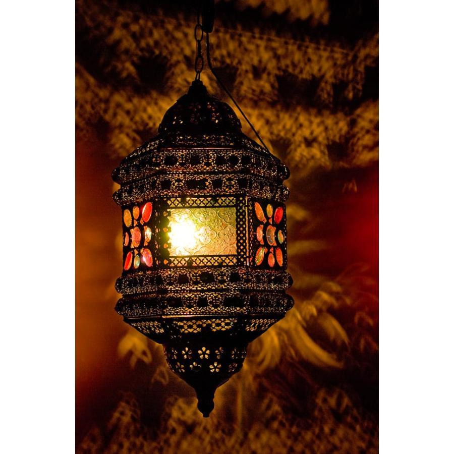 送料無料 ランプ アジアン インテリア ランプシェード 吊り下げアラビアンランプ 提灯型 エスニック インド 雑貨