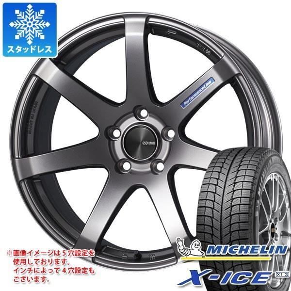 スタッドレスタイヤ ミシュラン エックスアイス XI3 225/50R18 99H XL ENKEI エンケイ パフォーマンスライン PF07 7.5-18