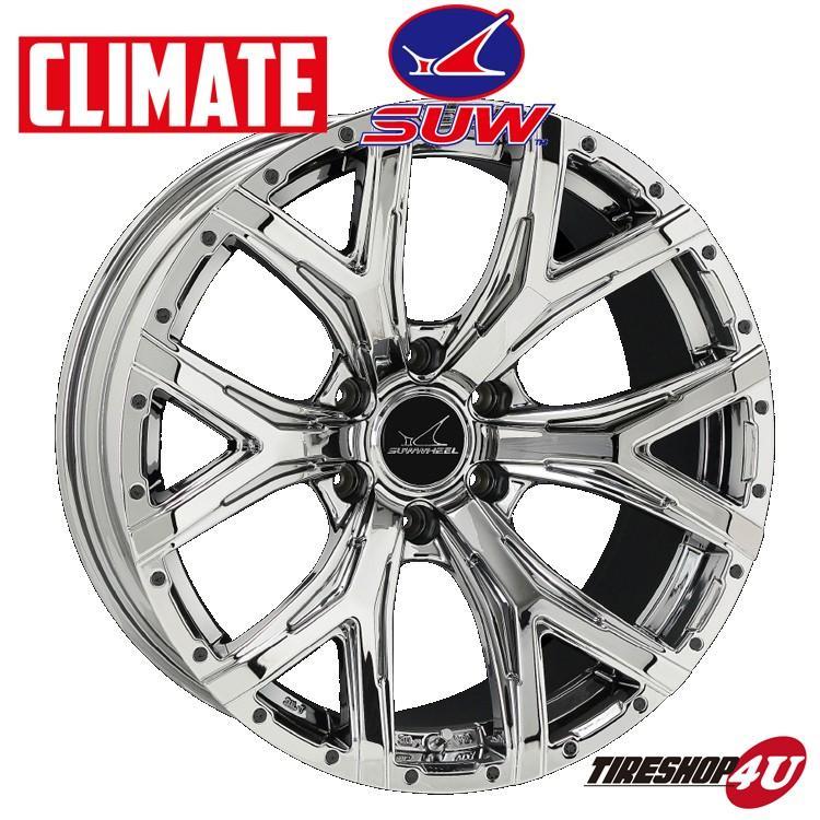 CLIMATE Forte 17インチ 17x6.5J 6/139.7 +38 スーパークローム 新品ホイール1本価格