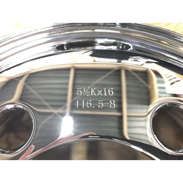 【3/18(木)16:59までポイント5倍!】 ホイール トラック用 新品 16x5.5 5H 116.5 JIS メッキ フロント MTM 睦技研