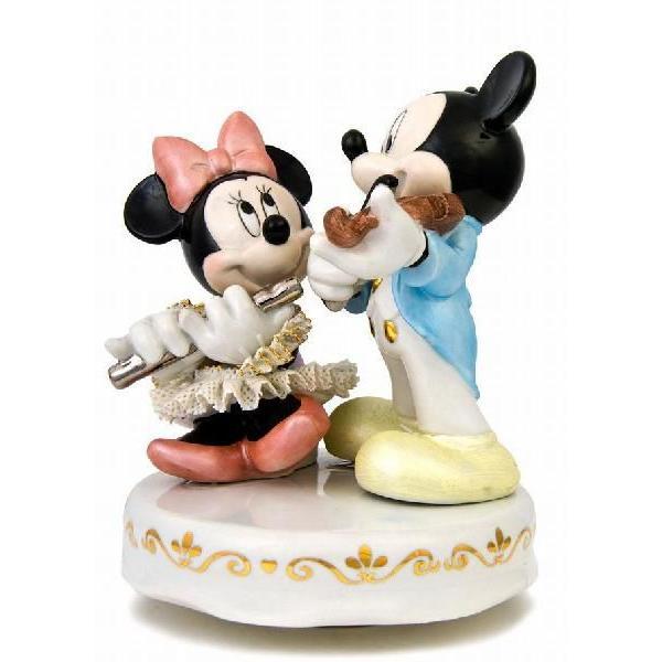 ミッキー&ミニー 演奏会 オルゴール カラー DY-2361C   【 陶器 人形 置物】 /テーケー名古屋人形製陶株式会社|tklace