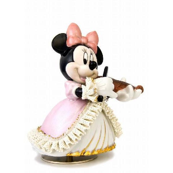 ミニー バイオリン弾き オルゴール カラー DY-2362C  【 陶器 人形 置物】 /テーケー名古屋人形製陶株式会社 tklace