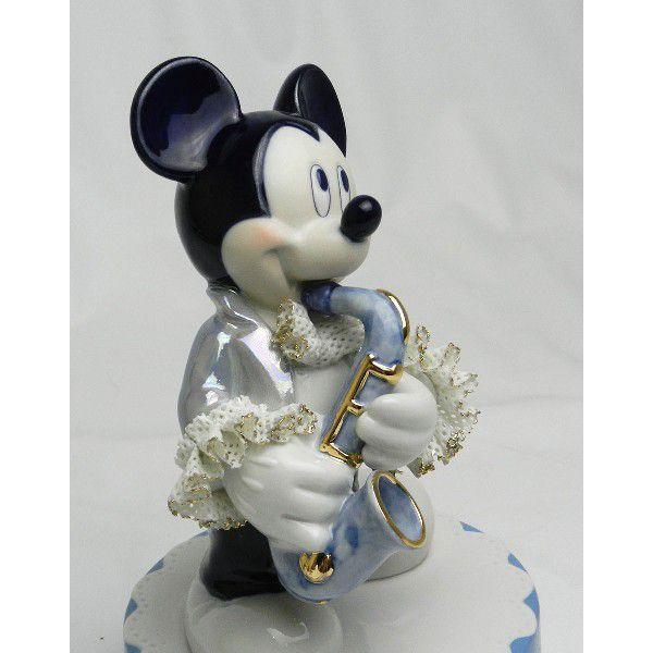 ミッキー サックス オルゴール ブルー DY-2374B/テーケー名古屋人形製陶株式会社|tklace|02