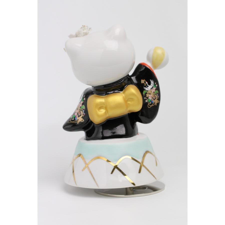 和装 ハローキティ  レースドール オルゴール SR-2403B(黒)  【 陶器 人形 置物】 /テーケー名古屋人形製陶株式会社|tklace|03