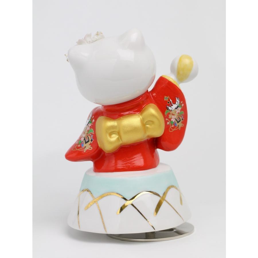 和装 ハローキティ  レースドール オルゴール SR-2403R(赤)  【 陶器 人形 置物】 /テーケー名古屋人形製陶株式会社|tklace|03