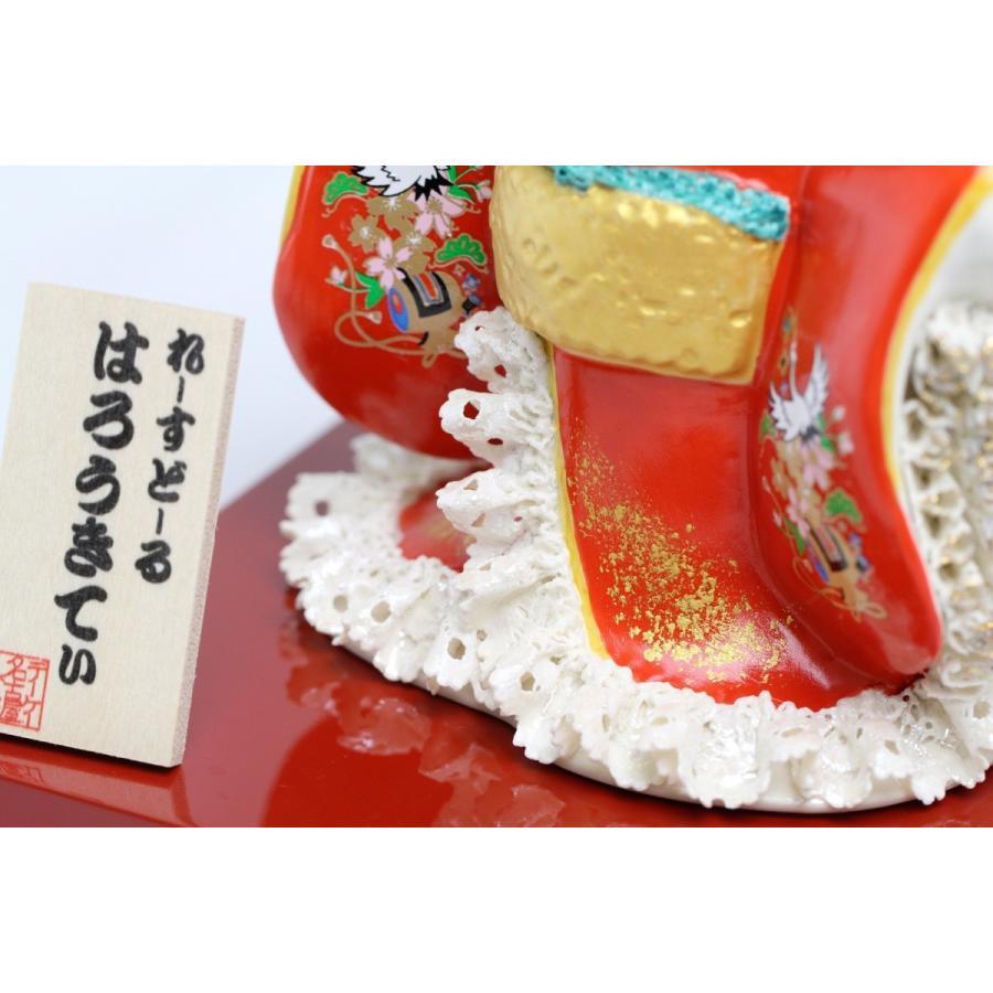和装 ハローキティ 陶製 レースドール デラックス  SR-2404R  【 陶器 人形 置物】 /テーケー名古屋人形製陶株式会社|tklace|03