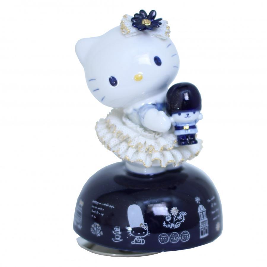 45th  ハローキティ オルゴール イン ロンドン ルリ SR-2411B 【2週間後のお届けとなります】/テーケー名古屋人形製陶株式会社 tklace