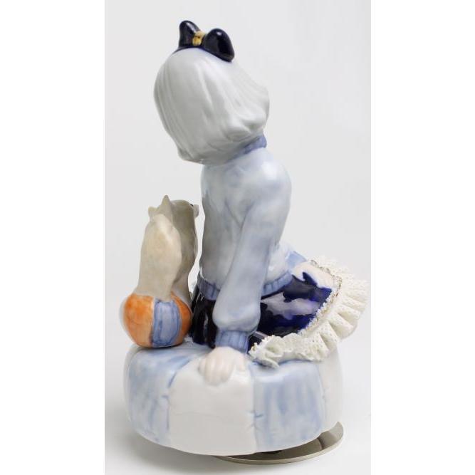 レースドール オルゴール マイ・ファミリー チワワ TKN-2370G  【 陶器 人形 置物】 /テーケー名古屋人形製陶株式会社|tklace|03