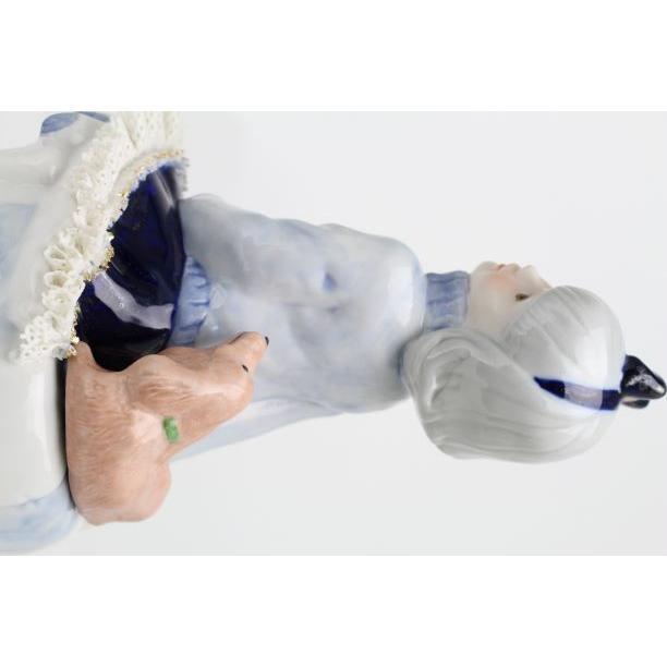 レースドール オルゴール マイ・ファミリー ダックスフンド TKN-2370H  【 陶器 人形 置物】 /テーケー名古屋人形製陶株式会社|tklace|02