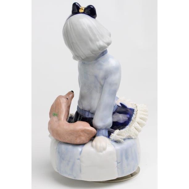 レースドール オルゴール マイ・ファミリー ダックスフンド TKN-2370H  【 陶器 人形 置物】 /テーケー名古屋人形製陶株式会社|tklace|03
