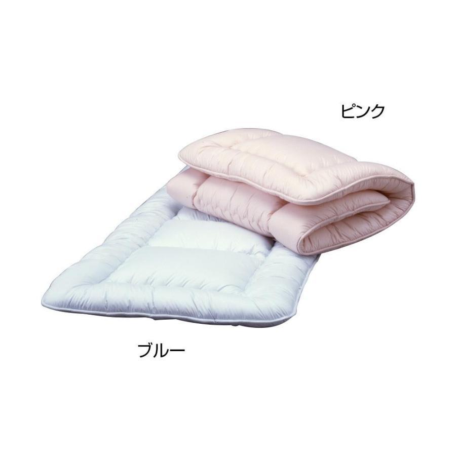 同梱・代引不可 高密度防ダニ生地使用 洗えるふかふか敷ふとん S