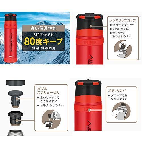 THERMOS(サーモス) 山専用ステンレスボトル900ml FFX-901 (マットブラック(MTBK)) tlinemarketing 03