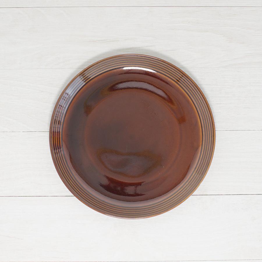 TLP BORDER 24cm PLATE プレート皿 アメ色 茶ブラウン|tlp